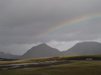 Rainbow over Sauðleysu